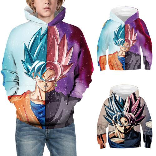 Kids Boys Girls Dragon Ball Z 3D Hoodies Sweatshirt Pullover Hooded Jumper Top