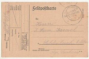 Field Postcard 1915 Imperial German Navy Schiffspost No 58 Stamp !(A1582