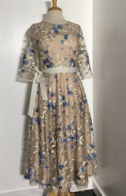 nyA  280 BHLDN Hitherto Linden Broad Floral Dress - bröllop