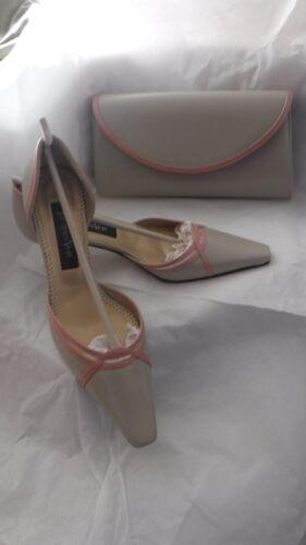 grigia abbinata in 4 e scarpe pelle rosa 37 Vert pochette Jacques taglia w8T5tq
