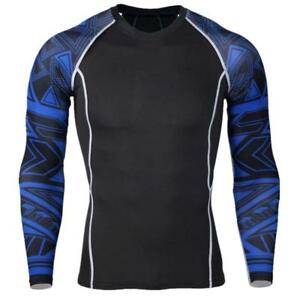 2017-Men-039-s-Compression-Base-Layer-Long-Sleeve-Tights-Gym-Fitness-Sports-T-shirts