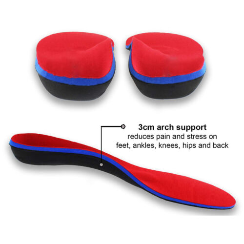 Orthotic Shoe Insoles Flat Feet Foot High Arch Heel Support Inserts Fr Men Women
