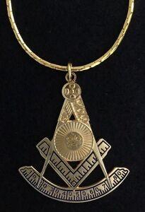 Masonic-Past-Master-039-s-Jewel-with-30-034-Chain-PM3-PC