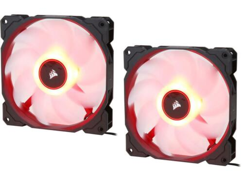 CO-9050089-WW 140mm Red LED Case Fan 2018 Corsair AF Series AF140 LED 2-Pack