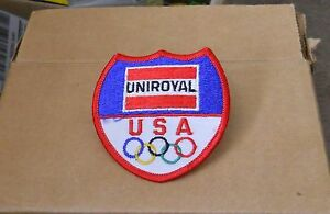 Vintage-1984-L-A-Summer-Olympic-Games-UNIROYAL-Corporation-patch-NOS