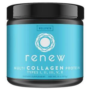 RENEW Multi Collagen Protein Powder - Premium Blend of Hydrolyzed Grass-Fed