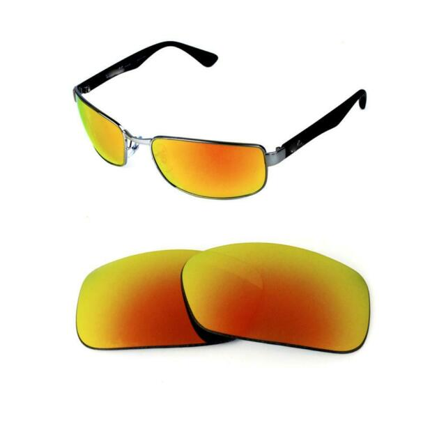 POLARIZED REPLACEMENT FIRE RED LENS FIT RAY BAN RB3364 62mm SUNGLASSES