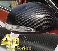 4D Gloss【BLACK1520mm(59.8in)x300mm(11.8in)】Carbon Fibre Vinyl Wrap Sticker Sheet
