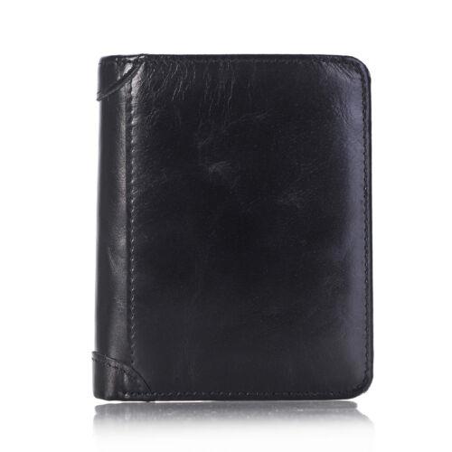 Men/'s Genuine Leather Money Clip Wallet ID Card holder Bifold Coin Purse Pocket