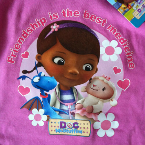 Bambine Bambini Ragazzi Disney Doc McStuffins Pigiama Pjs Set Giarrettiera 100/% COTONE