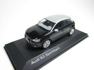 Original-Audi-a1-sporback-Phantom-Noir-Black-1-43-Kyosho-Dealer-5011201033