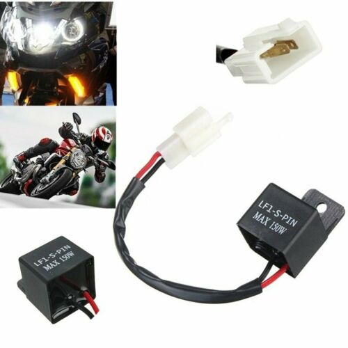 2 Pin Electronic LED Flasher Relay Motorcycle Turn Signal Bulbs Hyper Flash ER