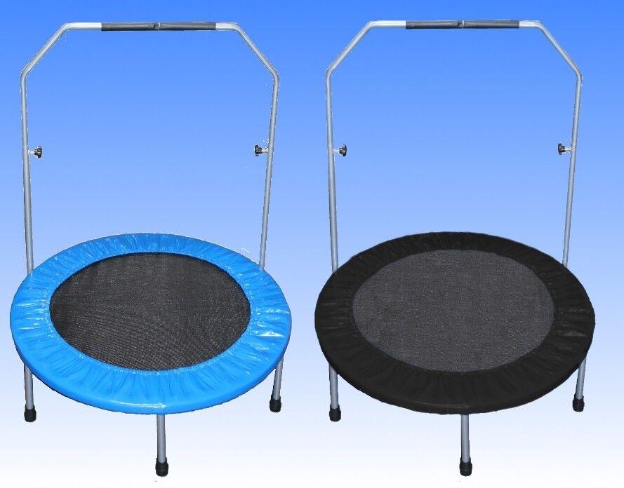 Trampolin 100 cm Fitness Minitrampolin Fun Jumping Rund 1m Randabdeckung