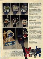 1984 ADVERT Star Wars Nelsonic Clocks Watch R2 D2 Voice Sound Pac Man Frogger