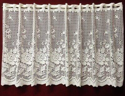 Victorian Battenburg Lace Crochet Window Curtain Valance Cafe White Hlpsocialsquare Com