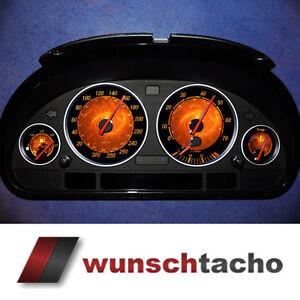 """Tachoscheibe für BMW E38-E39/E53/X5  """"Flame""""   Benziner."""