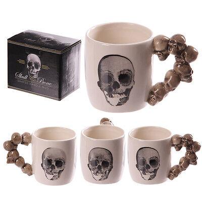 Fantasy Tasse Totenköpfe Kaffeetasse Kaffeebecher Skull Mug Teetasse Totenkopf