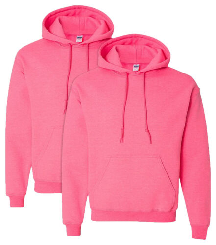 18500 Gildan Men/'s Adult Preshrunk DoubleLined Hooded Sweatshirt Pack2