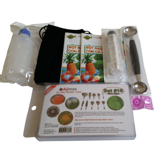 3D Jelly Gelatin Tools Starter Kit Amazing Jelly Jello Art Cake Kit #15