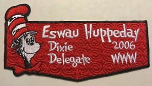 ESWAU-HUPPEDAY-OA-LODGE-560-BSA-PIEDMONT-AREA-NOAC-2006-DR-SEUSS-DELEGATE-FLAP