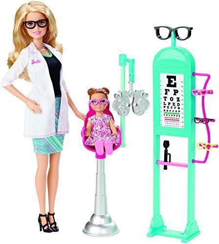 Nueva Muñeca Barbie carreras oculista y Conjunto de Juego Envío Gratuito