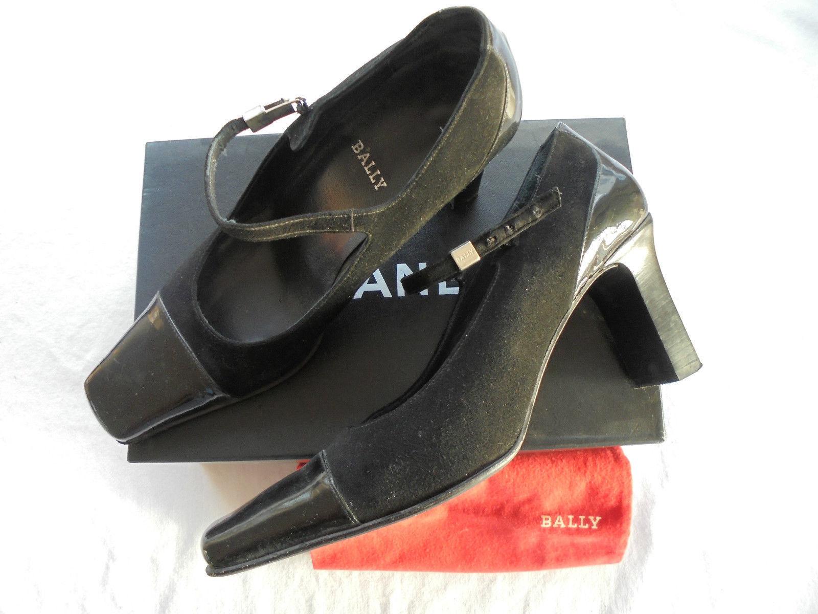 Bally Designer Lackleder Pumps NP  Sandaletten Schuhe Tasche Gr 39