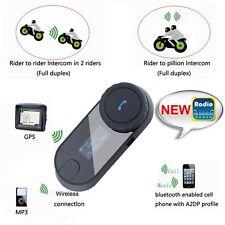1000M 3 Riders Hi-Fi Speaker Motorcycle BT Bluetooth Wireless Helmet Headset BP