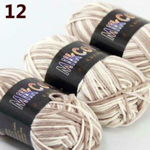 AIP-New-3Skeinsx50g-Soft-DK-Baby-Cotton-Crochet-Yarn-Hand-Wool-Scarf-Knitting-12