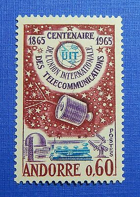 Steady 1965 Andorra French 60c Scott# 167 Michel # 193 Unused Nh Cs28307 Vivid And Great In Style Andorra Europe