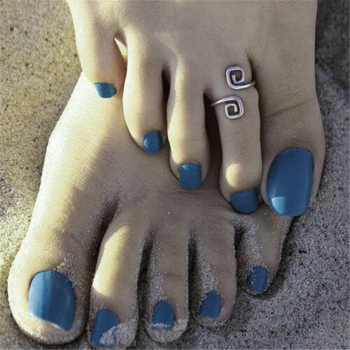 Pie de playa Anillo del Dedo del Pie Plata Anillo del dedo del pie Vintage Tamaño Ajustable