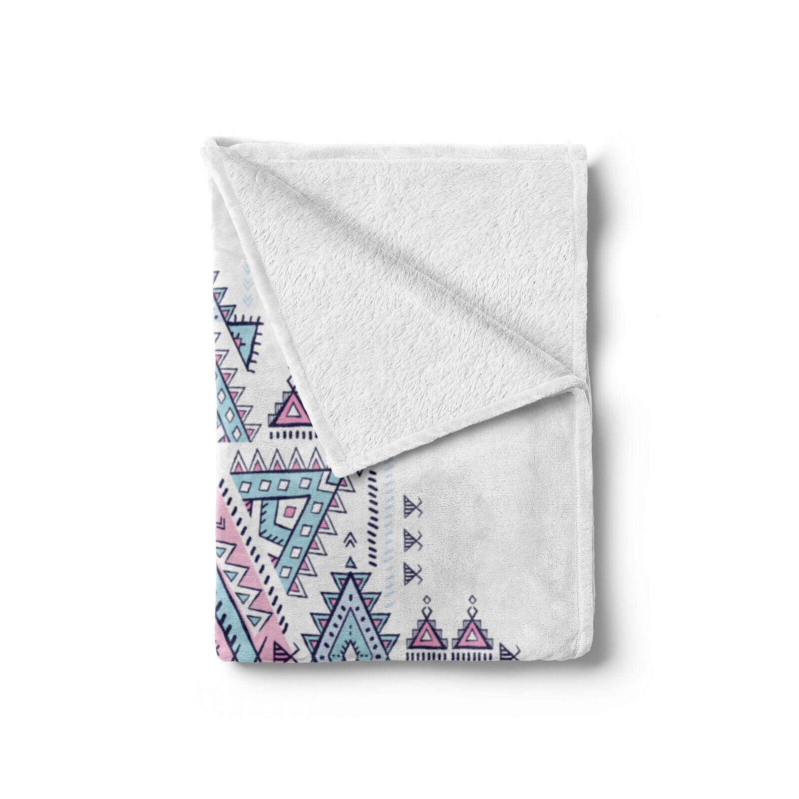 Aztec Soft Flannel Fleece Blanket Geometric Tattoo Art