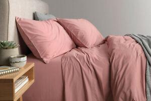 Sheridan Nashe King & QUEEN Bed sheet Set in Dusty Rose