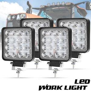 4-x-48W-LED-Arbeitsscheinwerfer-Rueckleuchten-Scheinwerfer-Anhaenger-Work-Light