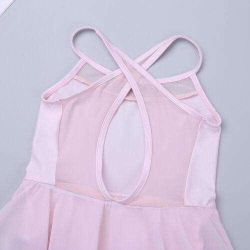UK Child Girl Ballet Dance Dress Ballerina Leotard Lyrical Latin Skirt Dancewear