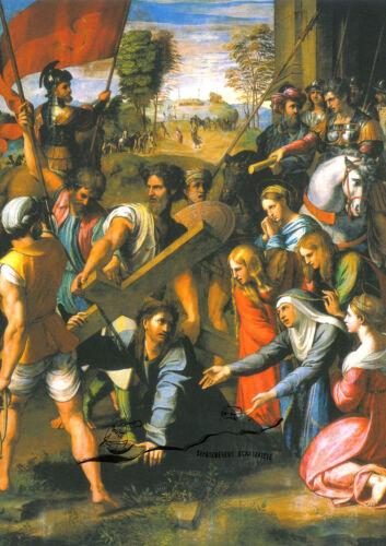 Die Kreuztragung Kunstpostkarte Raffael