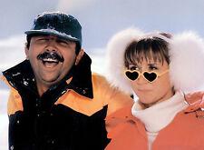 PHOTO GERARD JUGNOT &  MARIE-ANNE CHAZEL- LES BRONZES FONT DU SKI  11x15 CM # 5