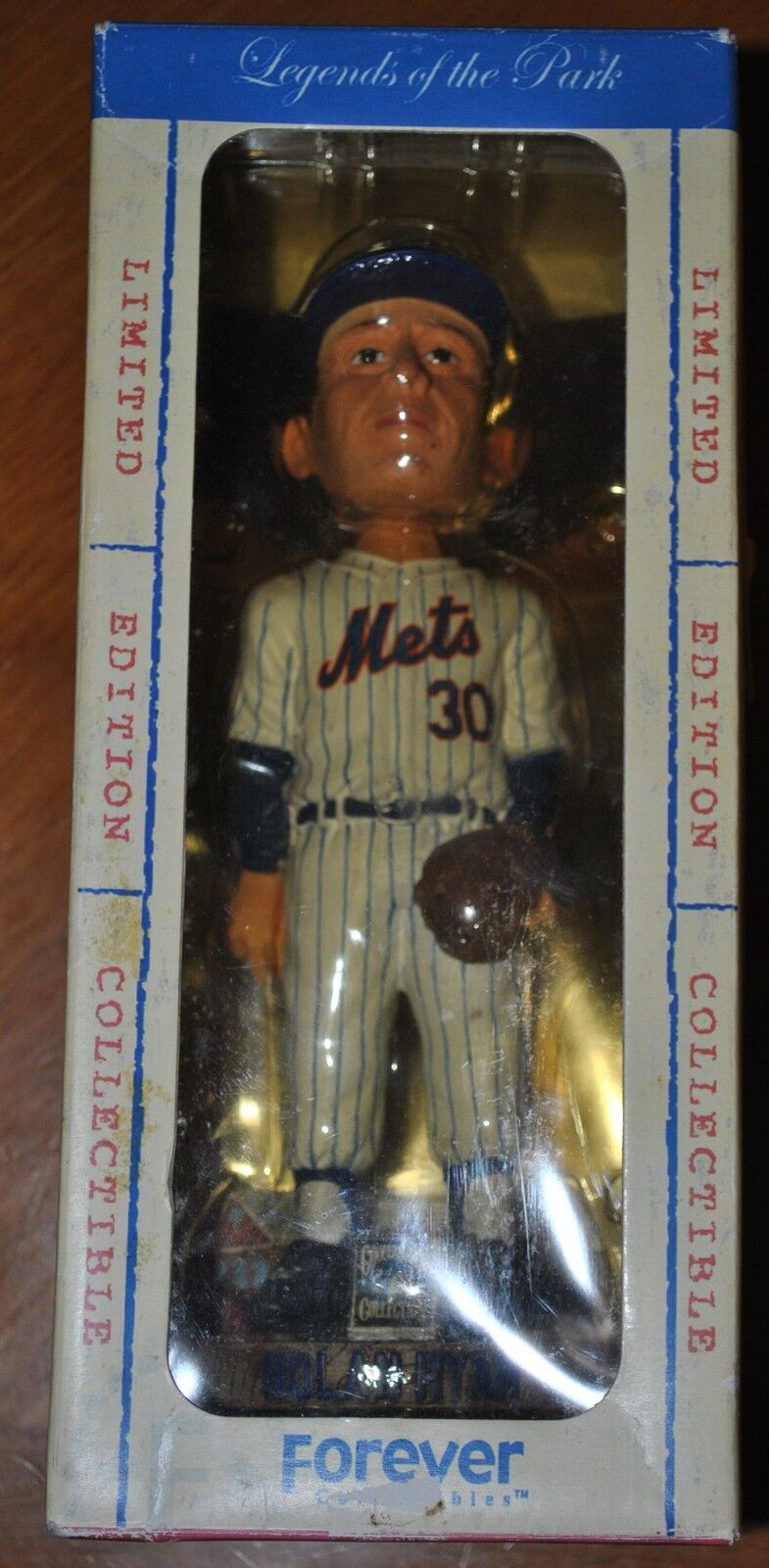 NOLAN RYAN METS FOREVER LIMITED EDITION COLLECTIBLE COOPERSTOWN 2136   5000