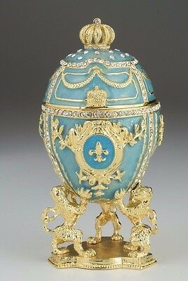 Easter Egg Trinket Box by Keren Kopal Faberge with  Austrian Crystal