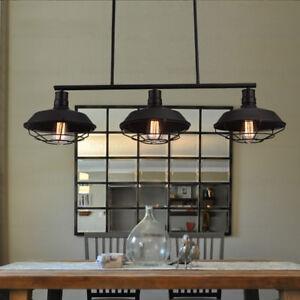 pool table retro hanging lamp 3 head pendant lighting fixture for