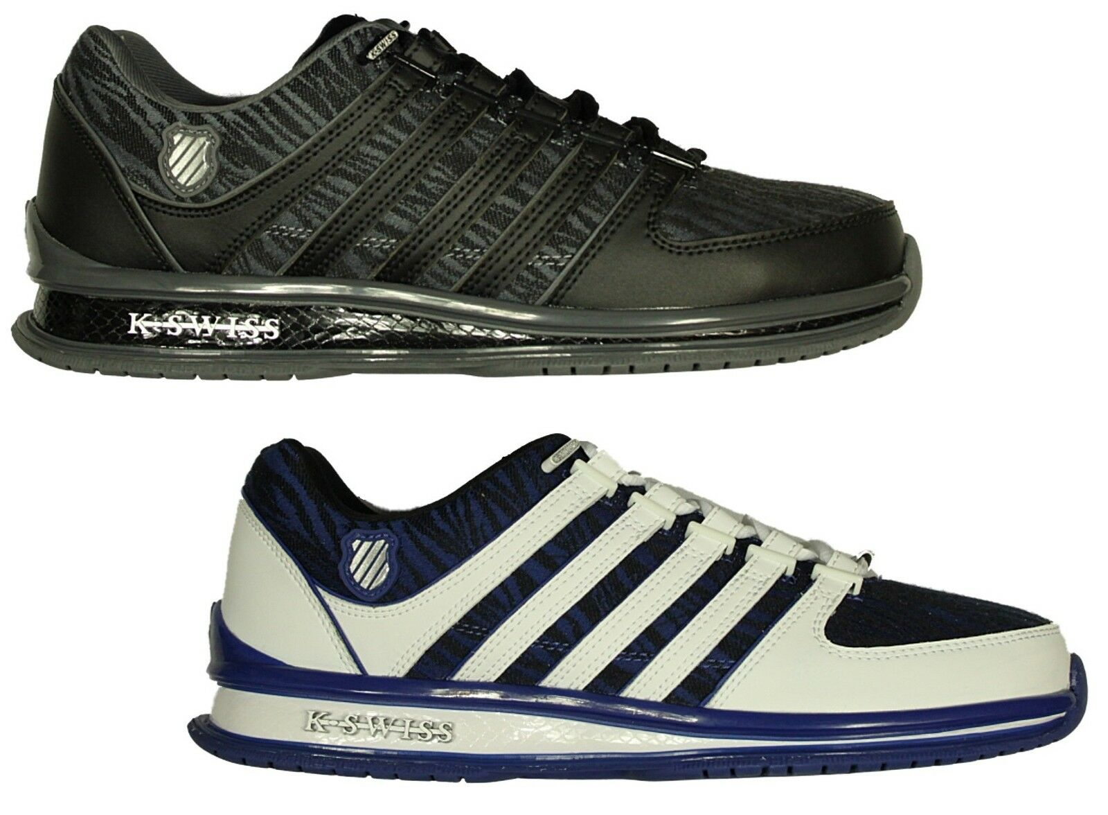 BRAND NEW Hombre K.SWISS RINZLER IN LACE UP TRAINERS FOOTWEAR IN RINZLER Gris-Blanco COLOURS 60532d