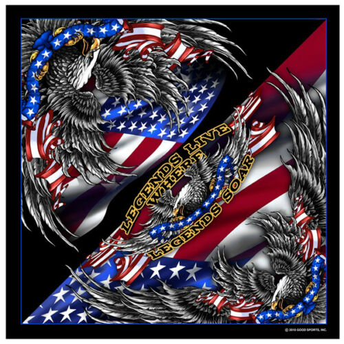 Biker Eagle Adler USA Flagge Patriotic Upwing Bandana Tuch Kopftuch Halstuch NEU