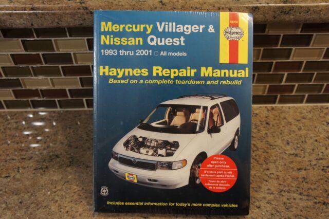 nissan quest 2001 manual