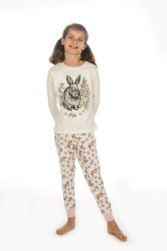 Superbe Filles Pyjamas avec adorable Bunny IMAGE 7-13 ans