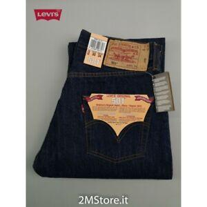 LEVI'S jeans LEVIS 501 Original Fit 501.01.01 denim Indigo blu Dritto VINTAGE