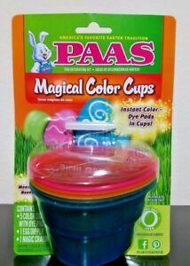 Details about Easter Egg Decorating Kit by Paas Magical Color Cups with Dye  Included