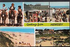 Norfolk Postcard - Greetings From Hemsby   DR382