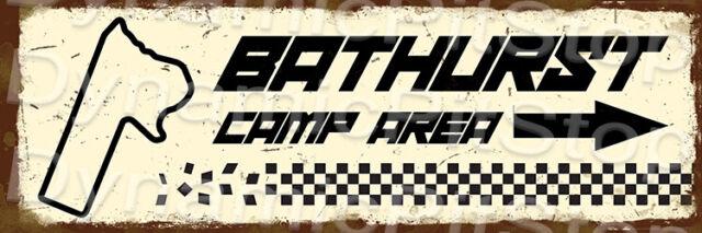 60x20cm Bathurst Camp Area Rustic Tin Sign or Decal