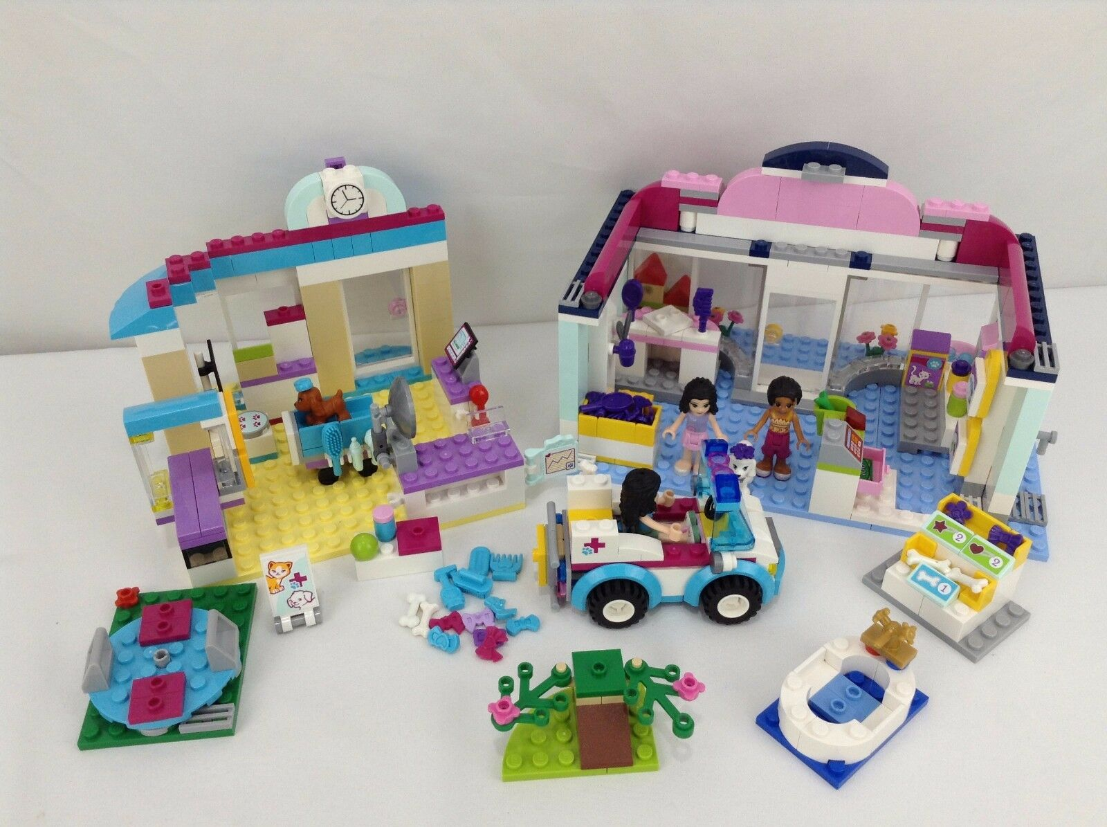 Lot Of Lego Friends Vet Sets 85 Complete 41085 41007 41086 3