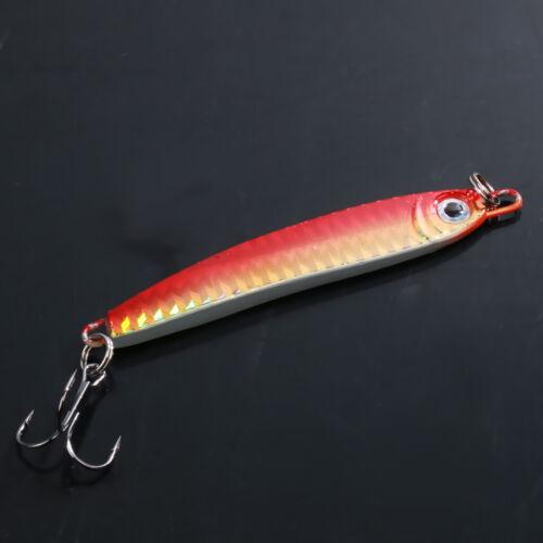 2pcs Metal 1.4oz//40g Jigging Fish Lure Saltwater Fishing Lures Trolling