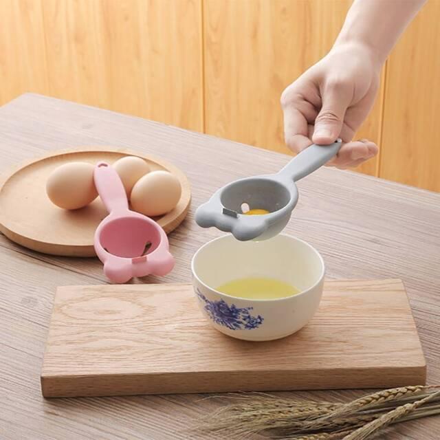 Wheat Straw  Egg Yolk White Separator Divider Holder Sieve Kitchen Tools Gadget,